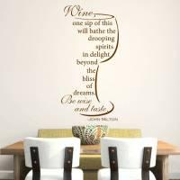 wine quote wall sticker by mirrorin | notonthehighstreet.com