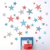children's patterned star wall stickers by koko kids ...