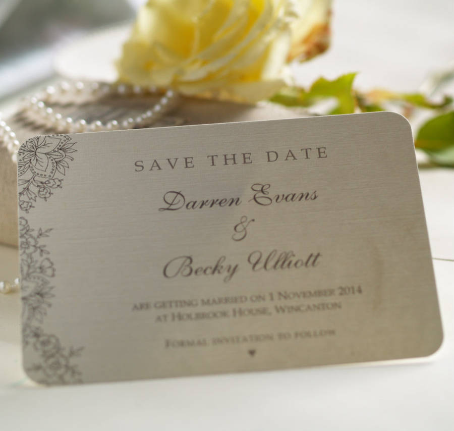 vintage lace\u0027 wedding save the date cards by beautiful day