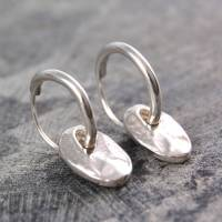 coin drop silver hoop earrings by otis jaxon silver ...