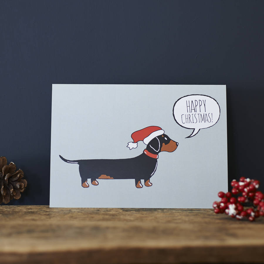 Captivating Dachshund Sausage Dog Card Dachshund Sausage Dog Card By William Designs Dog Cards Amazon Dog Cards Wholesale cards Dog Christmas Cards