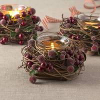 christmas berry tea light holder by the christmas home ...