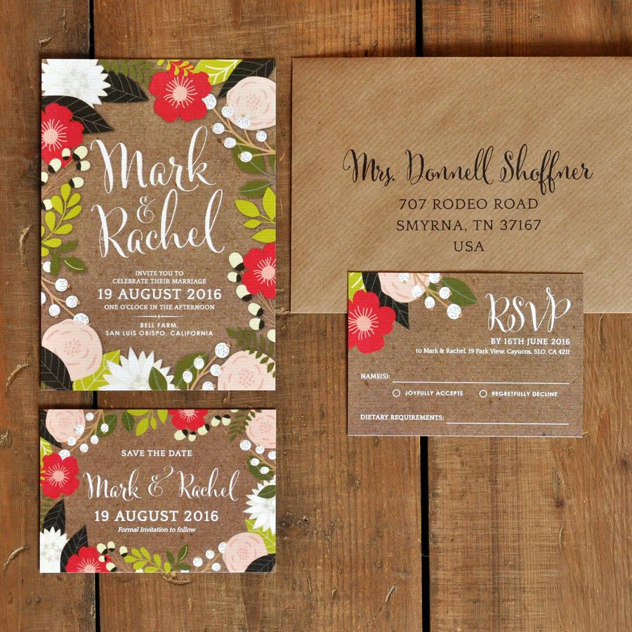 floral canopy wedding invitations wedding invitation frame Floral Frame Wedding Invitations