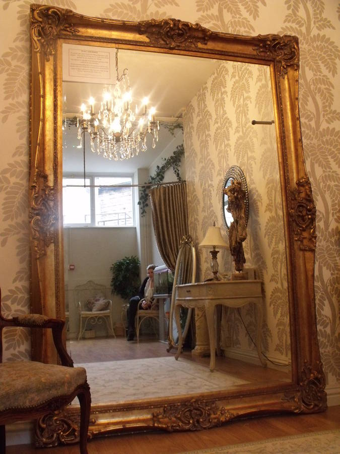 Hand Crafted Mirrors Huge Oversized Ivory Mirror By Hand Crafted Mirrors