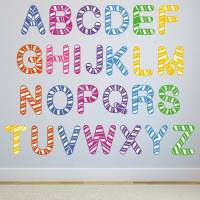 stripe alphabet wall stickers by mirrorin ...