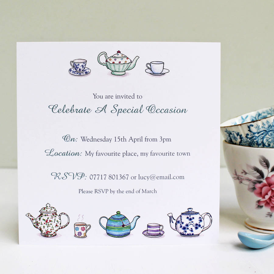 Fullsize Of Tea Party Invitations