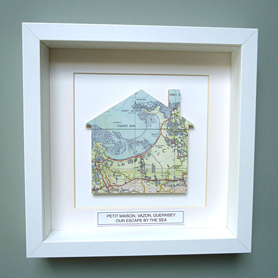 Personalised New Home Gifts Personalised New Home Gift Map Picture