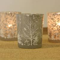 set of two christmas tree tea light holders by the wedding