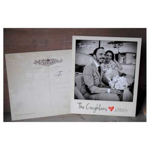 polaroid thank you cards with envelopes thank you wedding cards polaroid wedding thank you card