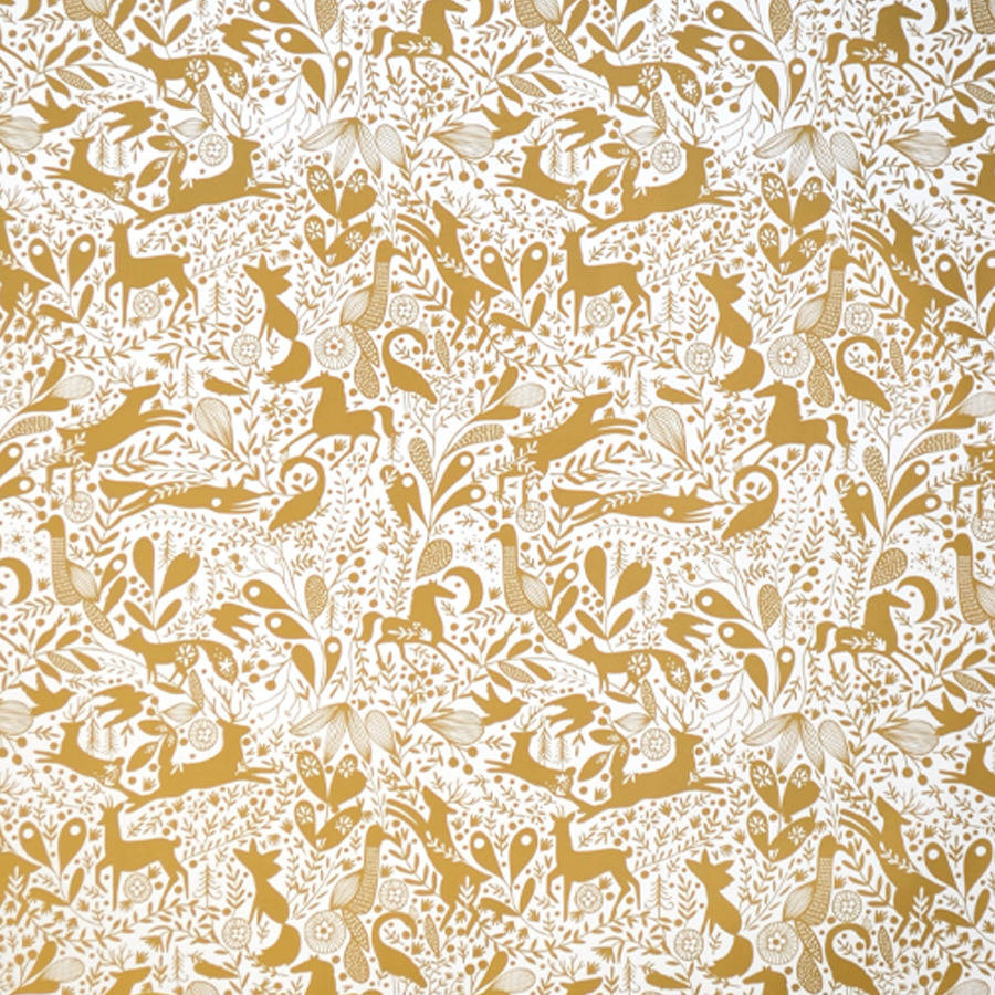 Bec Gold Metallic Enchanted Wrapping Paper Five Sheets By