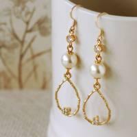 elegant pearl drop earrings by highland angel ...