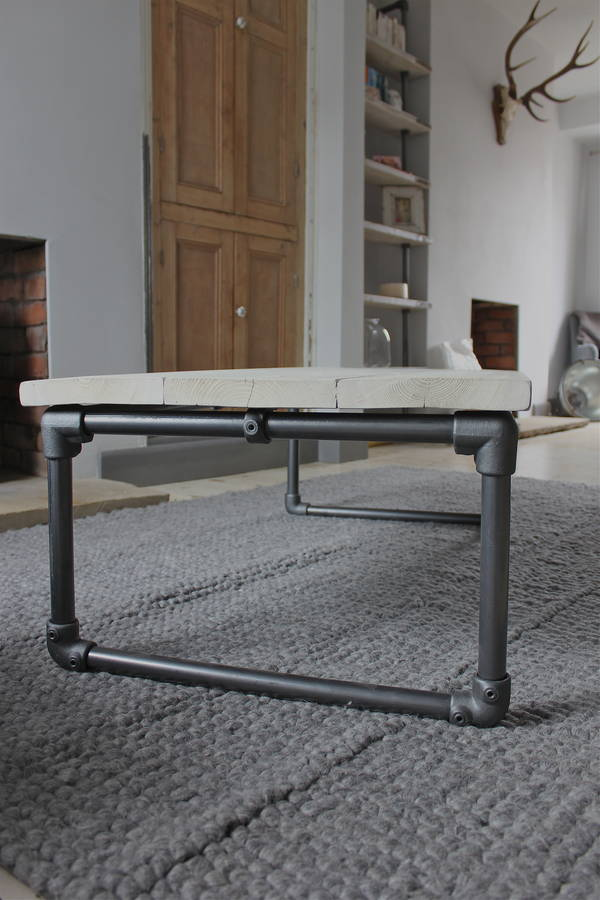 Motor Lattenroste Stiftung Warentest Couchtisch Industrial Diy | Casey White Washed Reclaimed