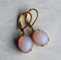 fire opal earrings by silk purse, sow's ear ...