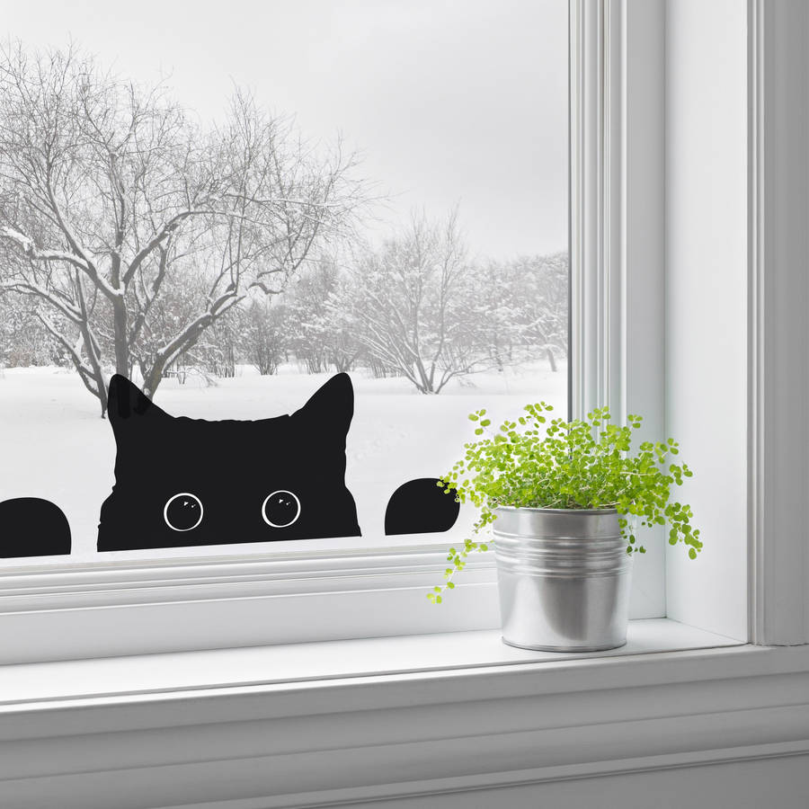 Cute Wallpapers Of Kittens And Puppies Peeping Cat Window Sticker By Nutmeg Notonthehighstreet Com