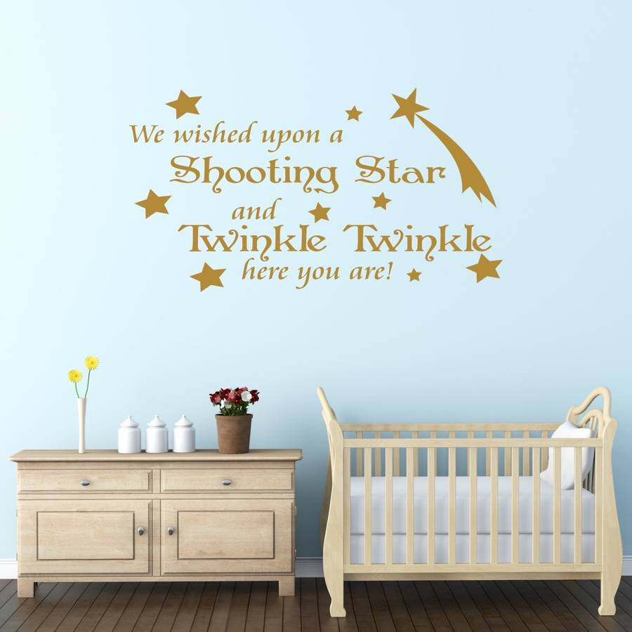 Kinderzimmer Winnie Pooh Baby's Nursery Quote Wall Sticker By Mirrorin