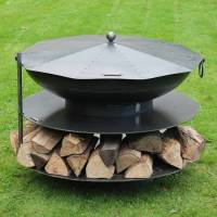 ring of logs steel firepit by firepits uk