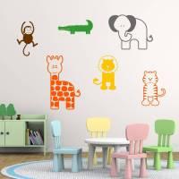 nursery animal wall stickers by mirrorin ...