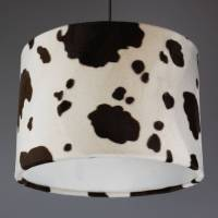 cow print faux fur lampshade by quirk | notonthehighstreet.com
