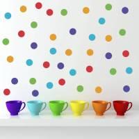 polka dot wall stickers by mirrorin | notonthehighstreet.com