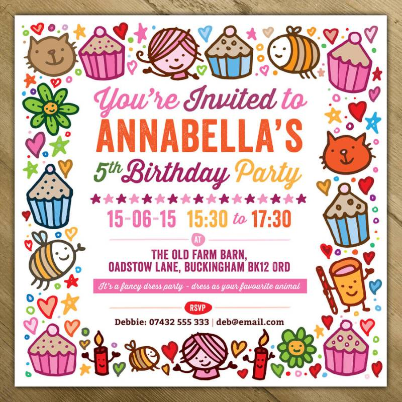 Enchanting Cheap Personalised Party Invitations Embellishment ...