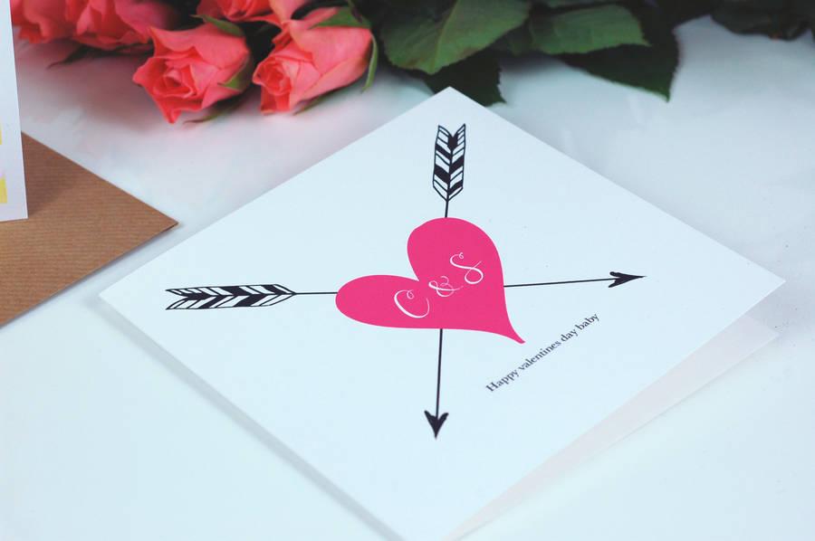 tattoo print monogram wedding anniversary card by made with love - print anniversary card