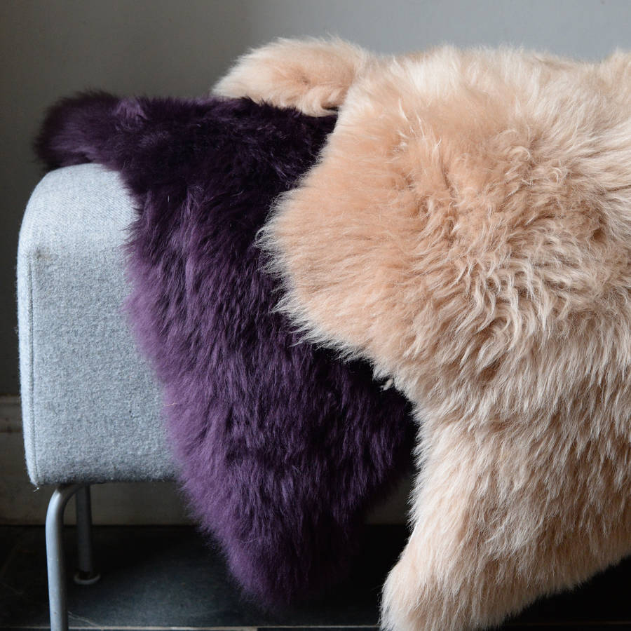 Sofas Made In Devon Hand Dyed Devon Sheepskins By The Forest & Co
