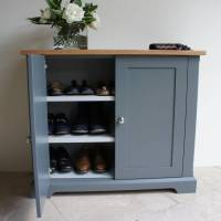ashford slimline shoe cupboard in a choice of colours by ...