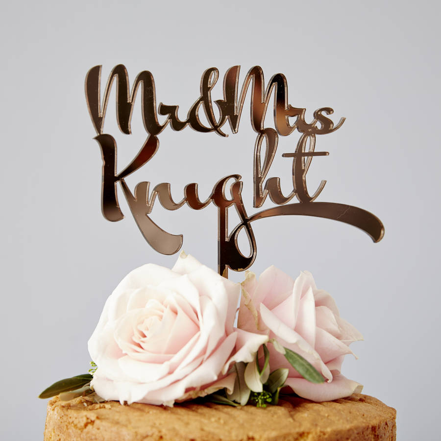 personalised wedding cake toppers scotland wedding cake topper Personalised Calligraphy Wedding Cake Topper
