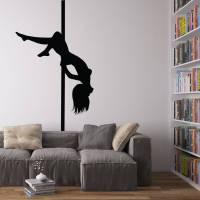 pole dancer vinyl wall art decal by vinyl revolution ...