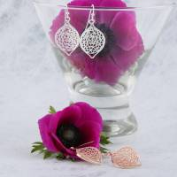 filigree leaf earrings by baronessa | notonthehighstreet.com