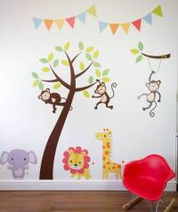 jungle friends tree wall stickers by parkins interiors ...