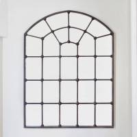 large metal framed window mirror by decorative mirrors ...