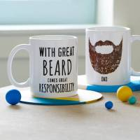 personalised 'great beard' man mug by oakdene designs ...