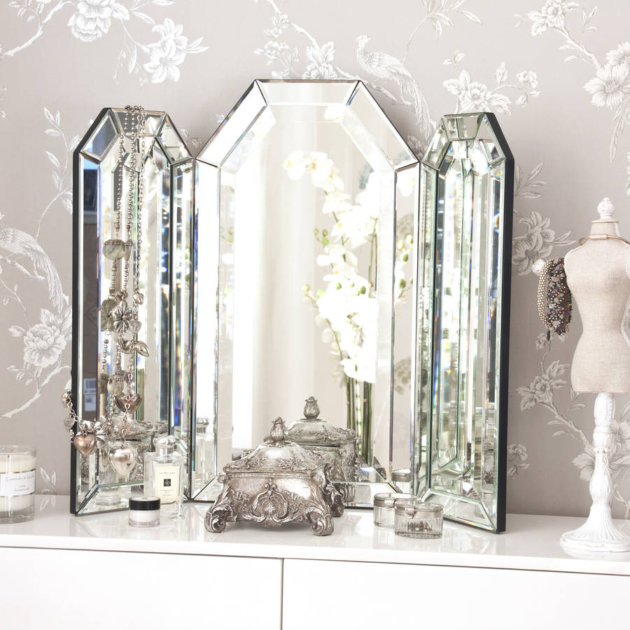 Decorative Mirror Table Flat Top Arch Dressing Table Mirror