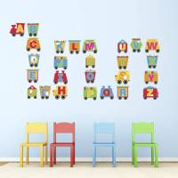 train alphabet wall stickers by mirrorin ...