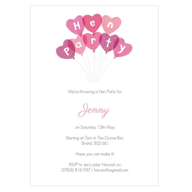 personalised hen party invitations | Invitationswedd.org