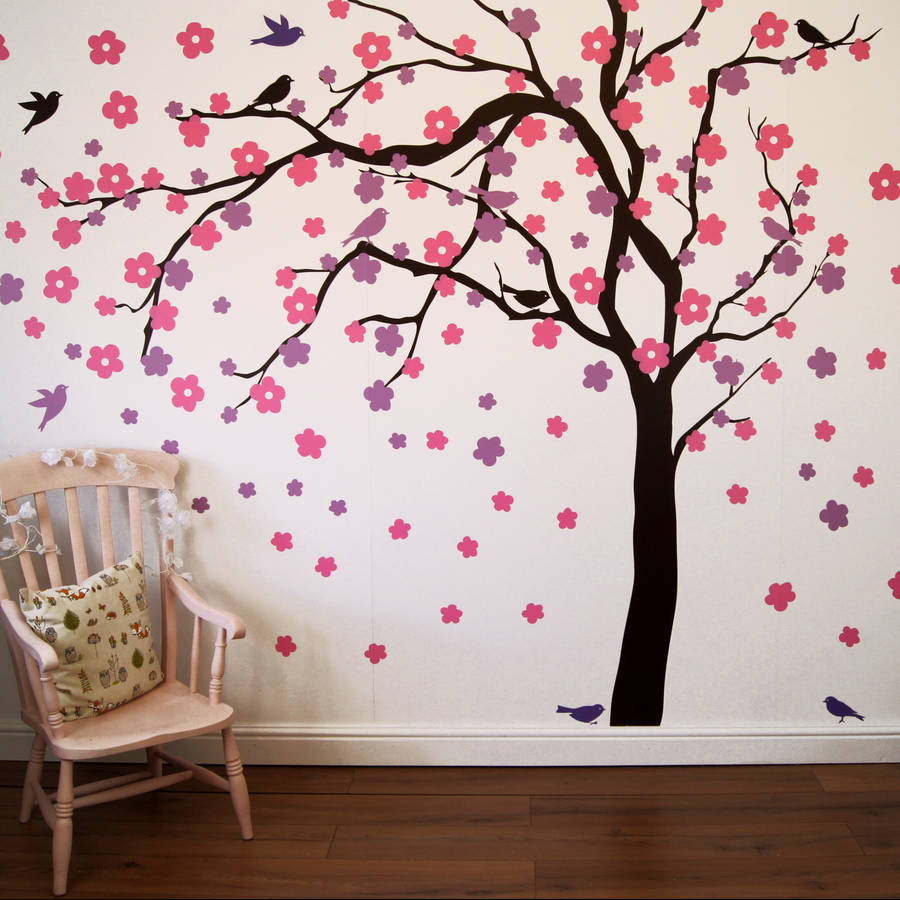 Animal Removable Wallpaper Summer Blossom Tree Wall Stickers By Parkins Interiors