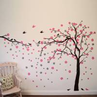 floral blossom tree wall stickers by parkins interiors ...