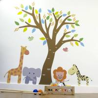 jungle tree fabric wall sticker by mirrorin ...