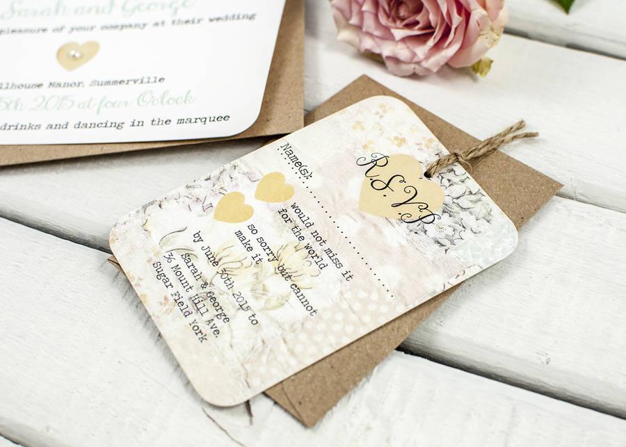 Floral Patchwork Wedding Invitation Bundle By Norma