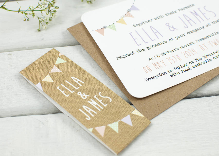 Burlap Wedding Invitation Bundle By Normadorothy