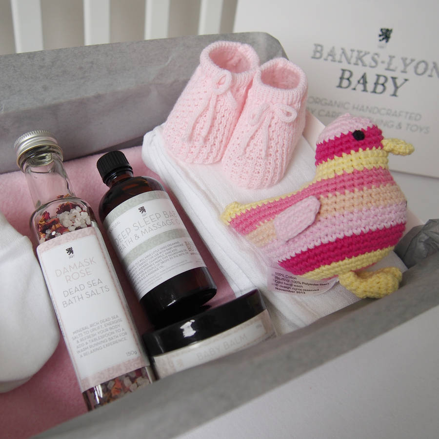 Baby Newborn Booties Create Your Own Handmade Baby Girl Gift Box By Banks Lyon