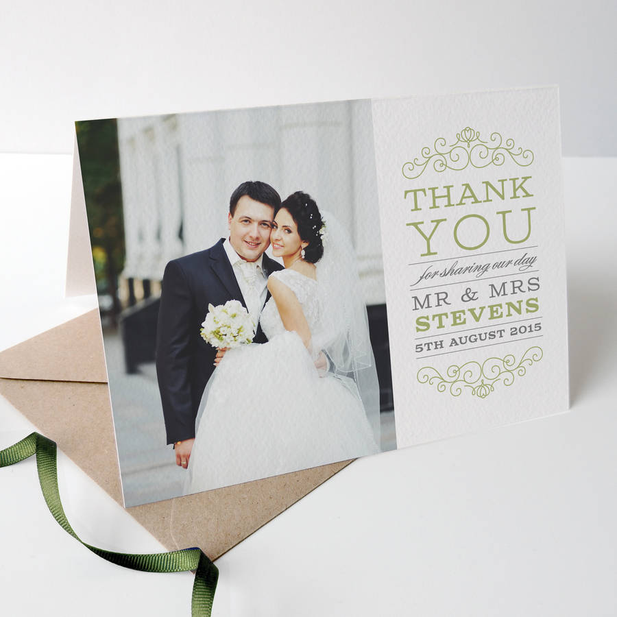 photo wedding thank you cards