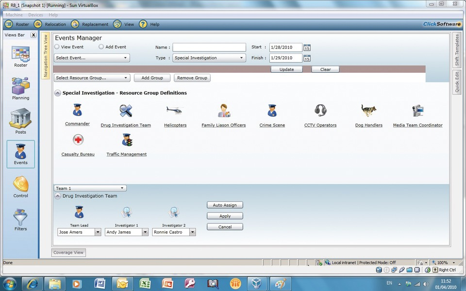 CLICKSOFTWARE TECHNOLOGIES LTD ClickRoster version 81 in Computers