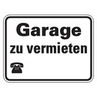 """Hinweisschild """"Garage zu vermieten"""" mit oder ohne"""