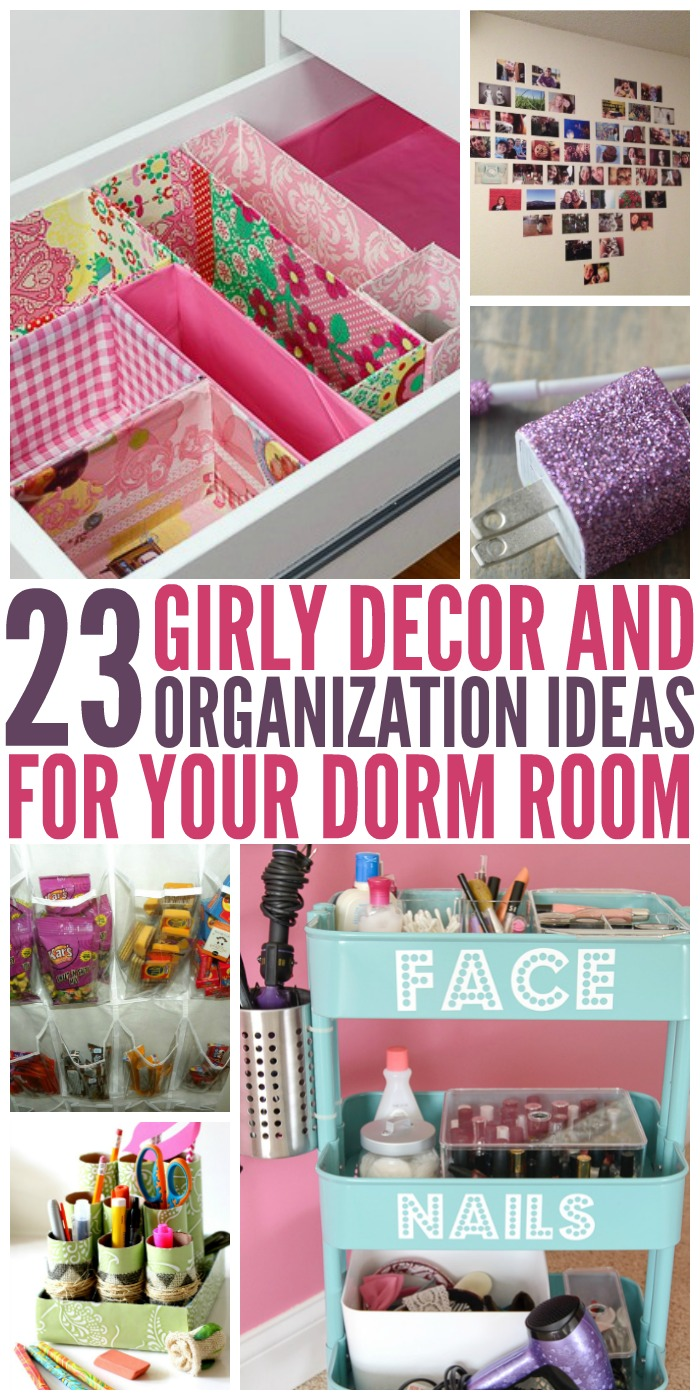 Make your dorm room a home away from home with these fun diy decoration and organization