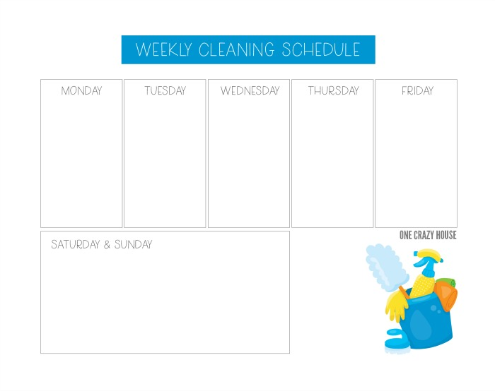 Weekly House Cleaning Schedule To Stay On Top Of Things
