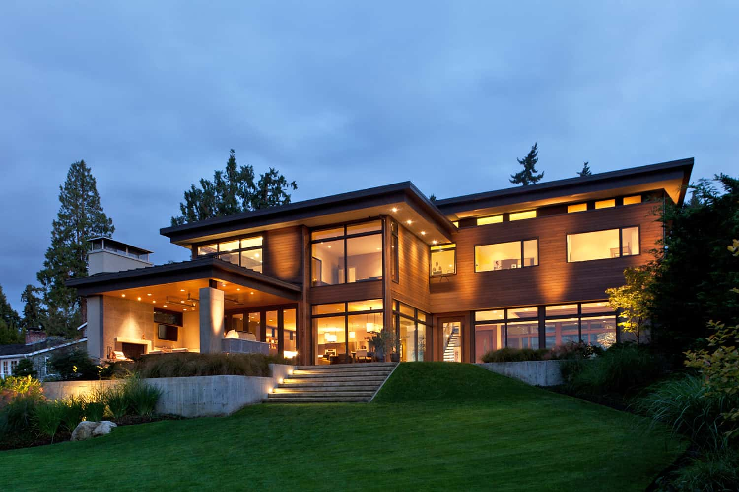 Modern Lake House Designs Contemporary Mercer Island Lake House Infused With Asian