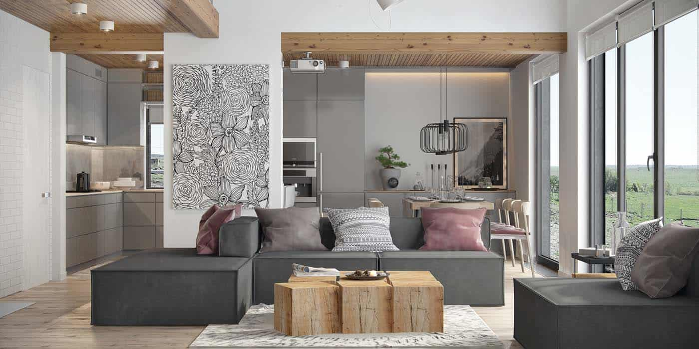 Minimalist Living Space Fresh Contemporary Living Space With Minimalist Tones In Ukraine