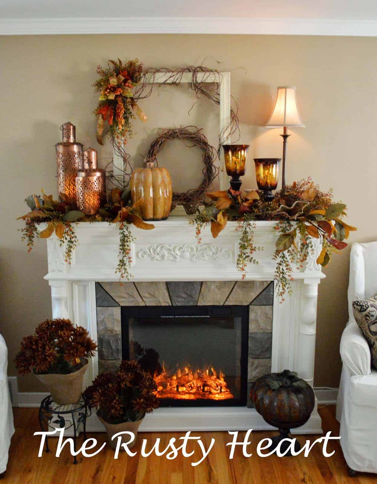 How To Decorate Fireplace Wall 30 43 Amazing Fall Decorating Ideas For Your Fireplace Mantel